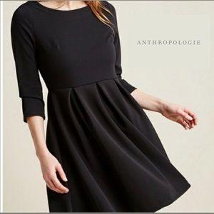Anthropologie Fervour Black Pleated Dress